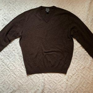 Brown Jos. A. Bank Cashmere Sweater